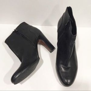 Naturalizer Black Leather Sierra Booties